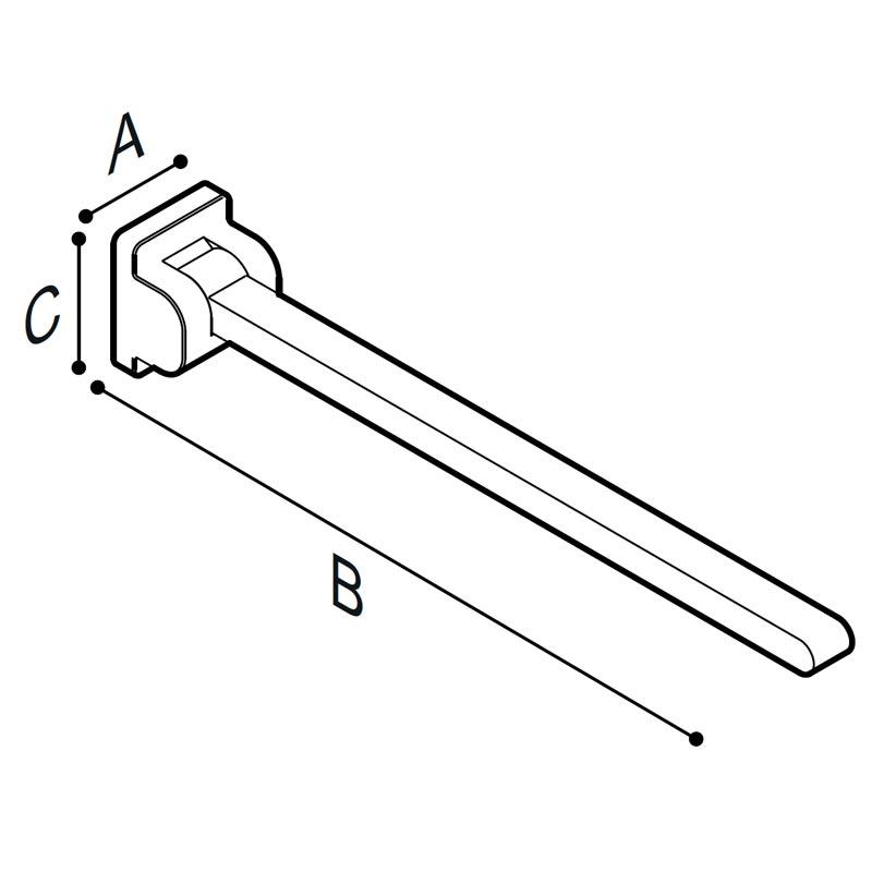 Disegno Sostegno ribaltabile, 70 cm. Disegno Tecnico G18JCS08