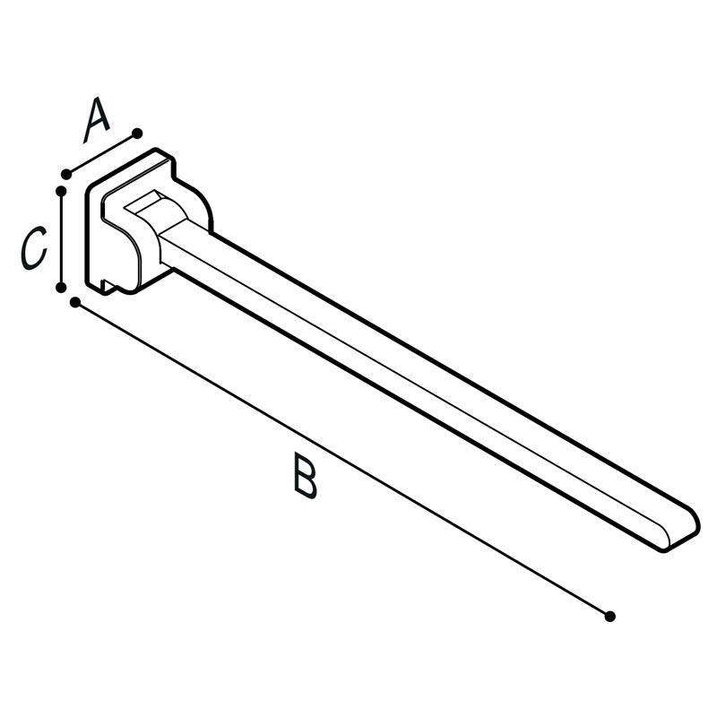 Disegno Sostegno ribaltabile, 85 cm. Disegno Tecnico G18JCS09