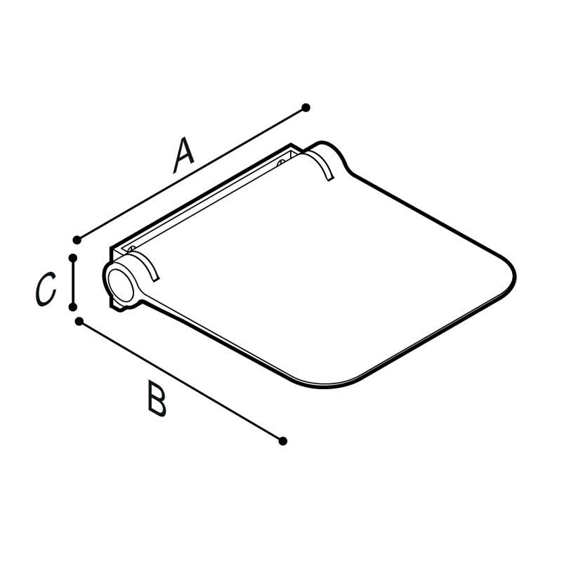 Disegno Sedile doccia ribaltabile Disegno Tecnico G12JDS05