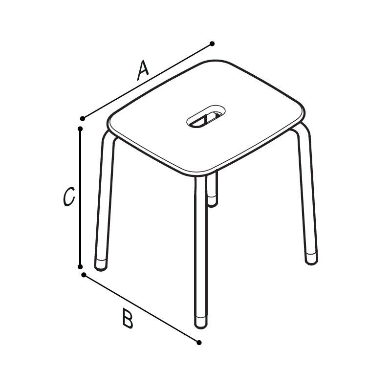 Disegno Sgabello Disegno Tecnico G12JDS02