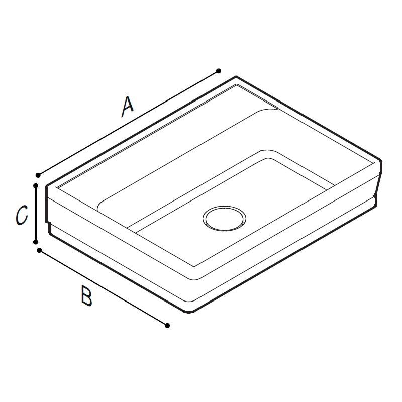 Disegno Lavabo Disegno Tecnico B48CMM01