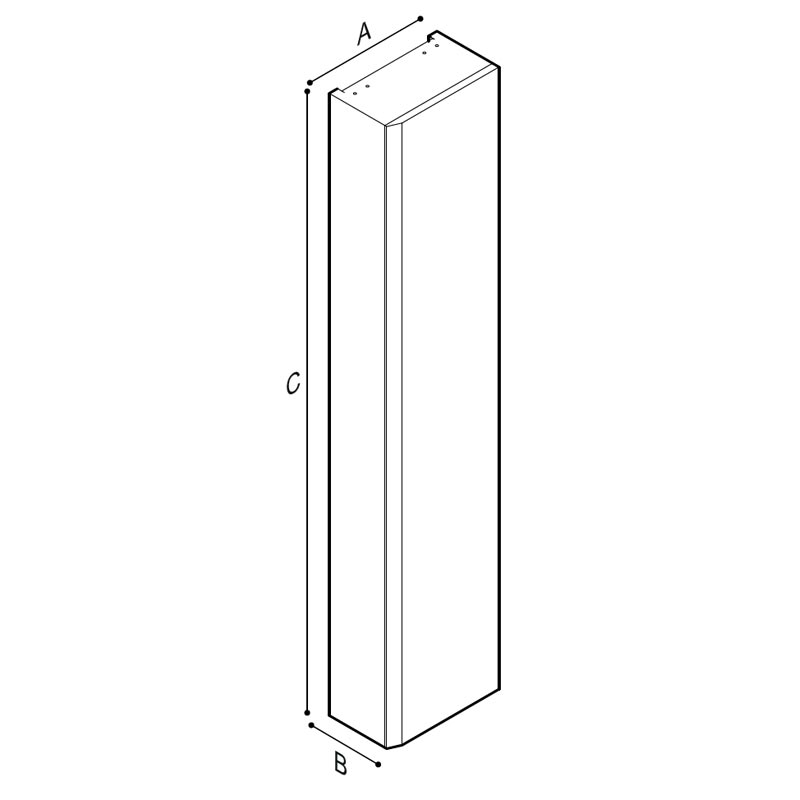 Disegno Mobile contenitore a parete Disegno Tecnico F47APS08