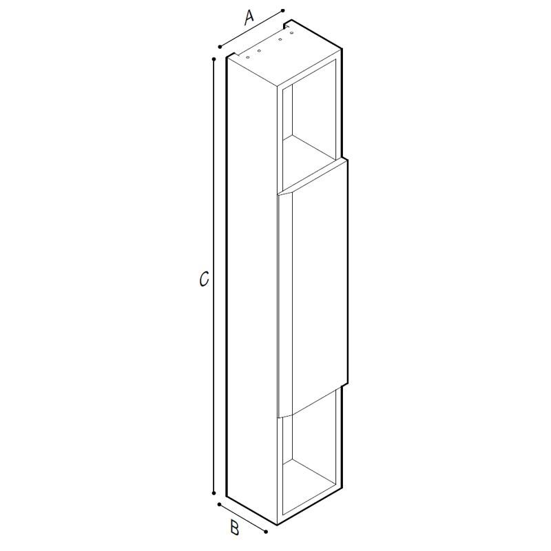 Disegno Mobile contenitore a parete con mensole Disegno Tecnico F47APS06