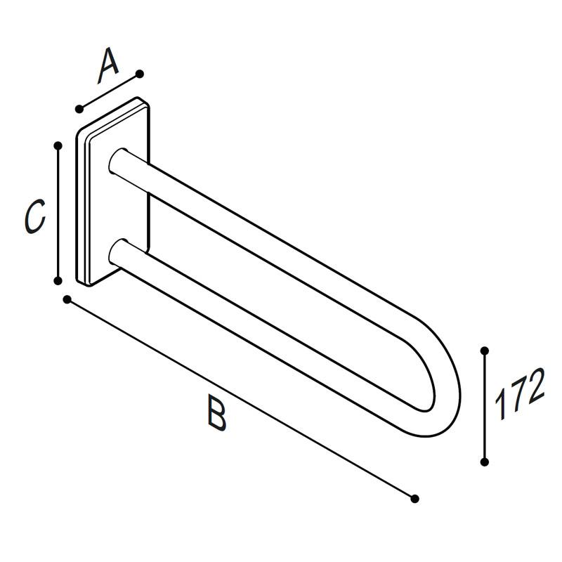 Disegno Sostegno laterale fisso Disegno Tecnico G41JCS05