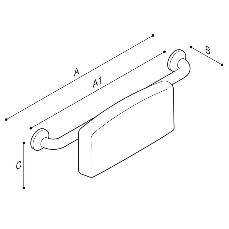 Disegno Schienale con supporto schiena morbido Disegno Tecnico G27JDS29