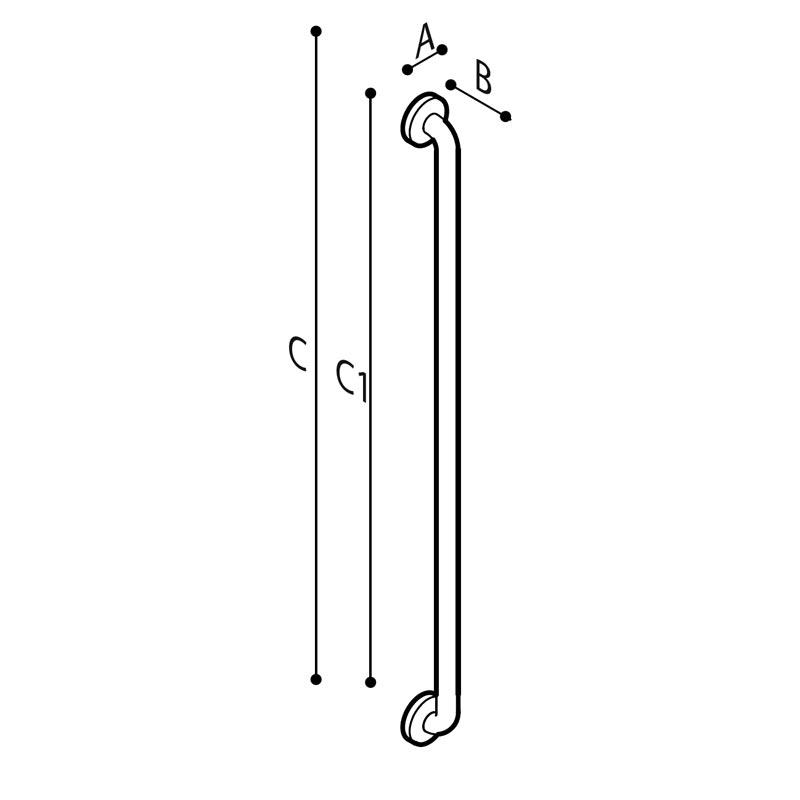 Disegno Maniglione di sicurezza lineare Disegno Tecnico G55JAS08