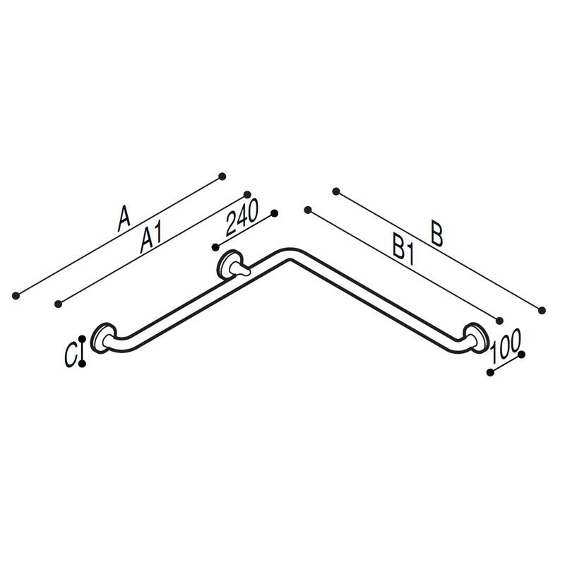 Disegno Sostegno di sicurezza per angolo Disegno Tecnico G29JBS01