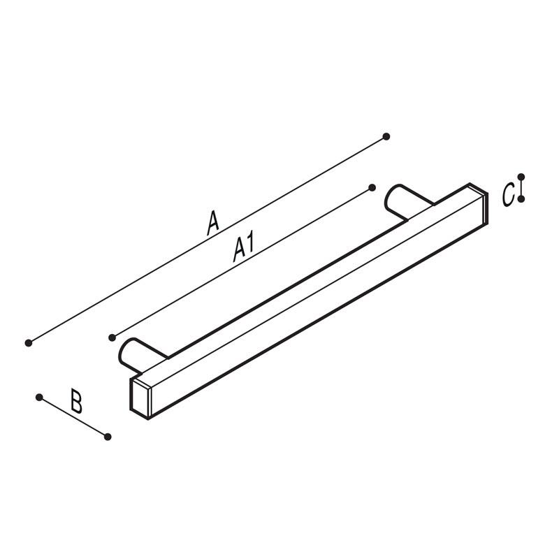 Disegno Maniglione di sicurezza lineare Disegno Tecnico G18JAS01