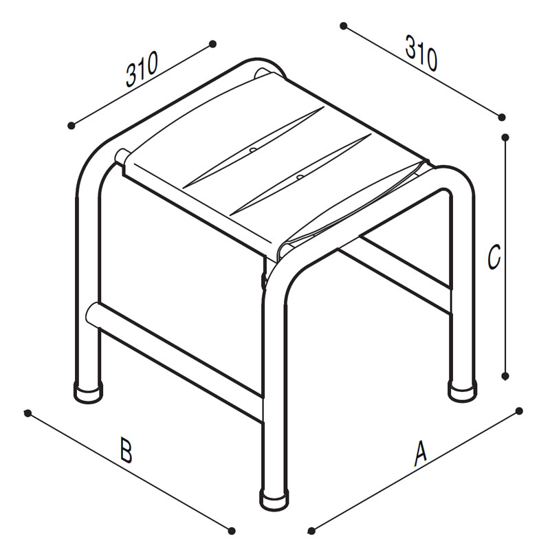 Draw Stool, ABS Technical Drawing G06JDS30