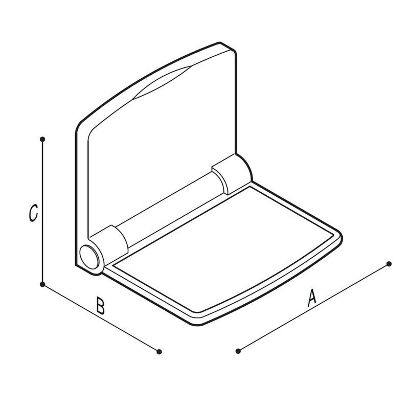Disegno Sedile ribaltabilecon schienale integrato Disegno Tecnico G01JDS43