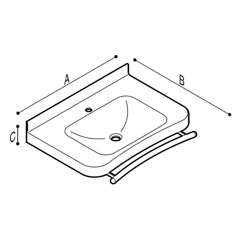 Disegno Consolle con barra porta teli Disegno Tecnico B46CNM22