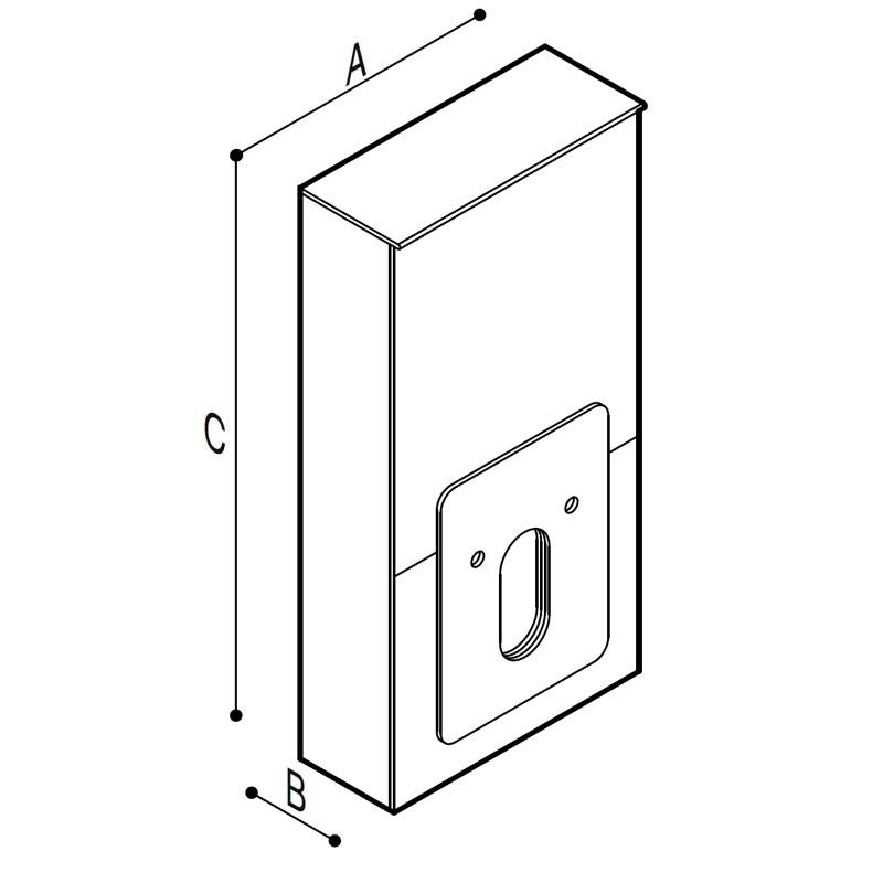 Disegno Modulo Sanitario WC, pneumatico ed elettrico Disegno Tecnico B41EAS06