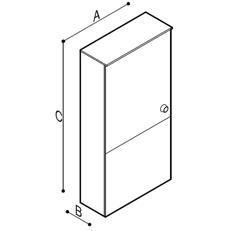 Disegno Modulo Sanitario WC Disegno Tecnico B41EAS05