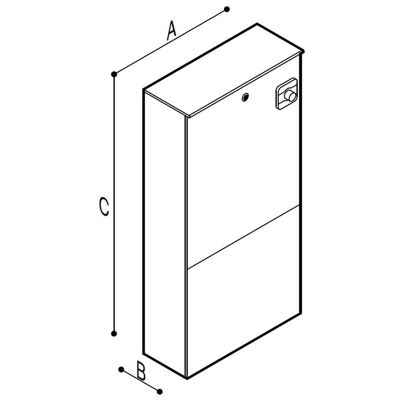 Disegno Modulo Sanitario WC, elettronico Disegno Tecnico B41EAS10