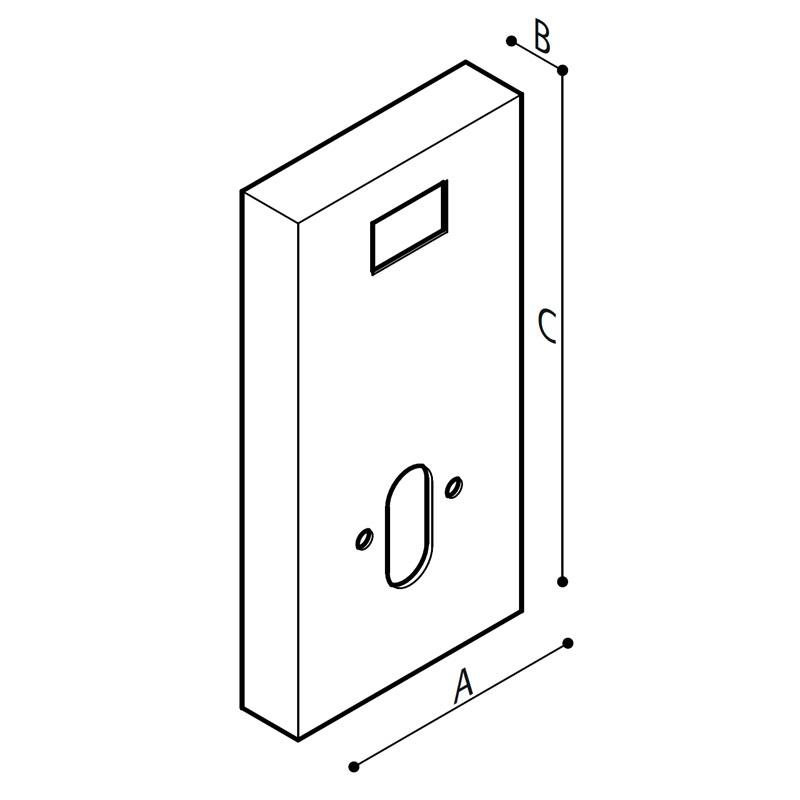 Disegno Modulo sanitario WC Disegno Tecnico R39PVS21