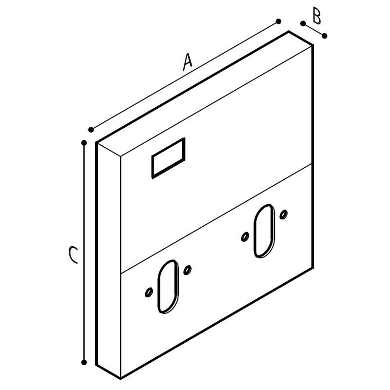 Disegno Modulo sanitario WC-bidet Disegno Tecnico R39PZS11