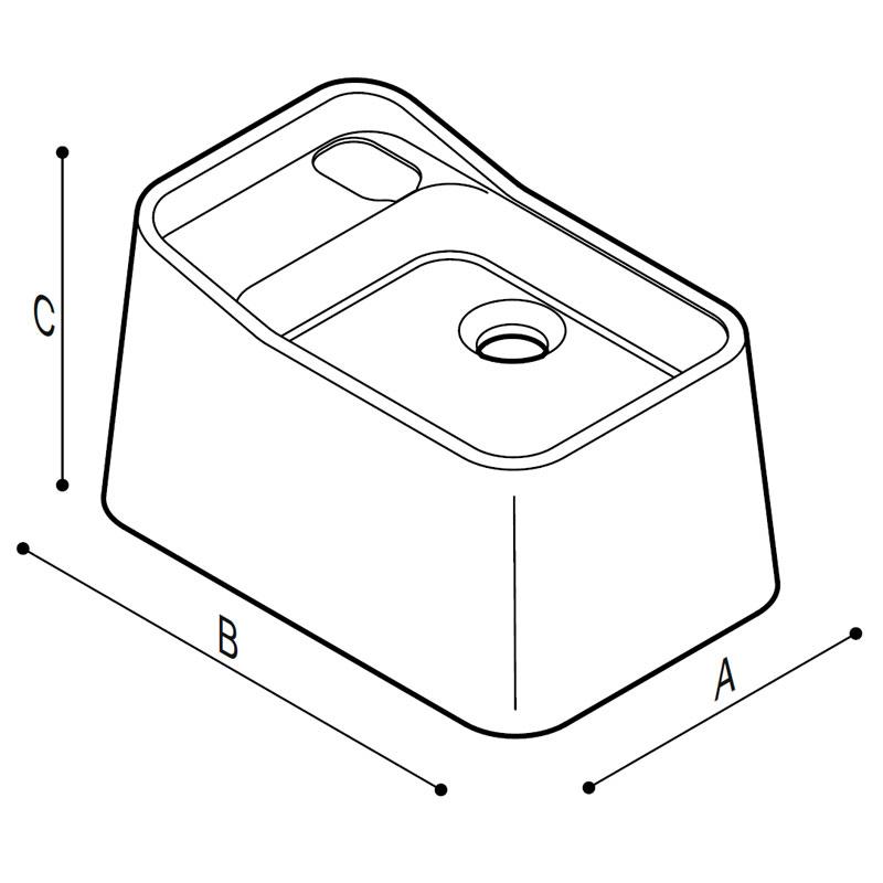 Disegno Lavapiedi Disegno Tecnico B44CQS02