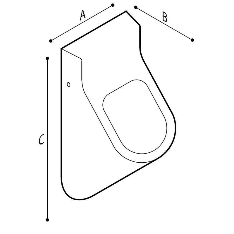 Disegno Orinatoio a parete Disegno Tecnico B41CQS05