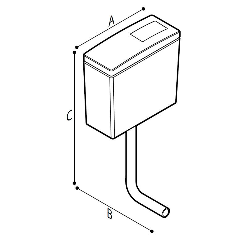 Disegno Cassetta di scarico esterna Disegno Tecnico H52HJS03