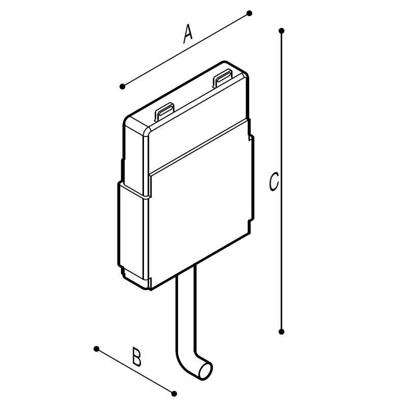 Disegno Cassetta di scarico da incasso meccanica Disegno Tecnico H52HHS02