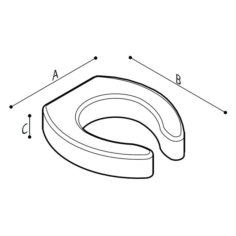 Disegno Sedile rialzato con apertura frontale Disegno Tecnico B41DEO12