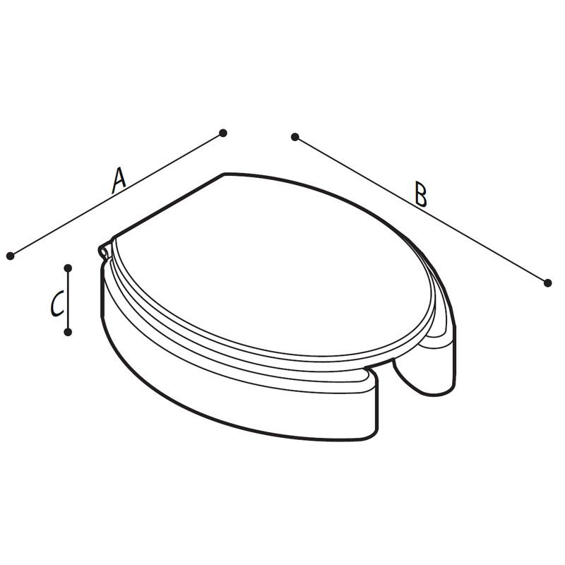 Disegno Sedile rialzato con copri sedile, con apertura frontale  Disegno Tecnico B41DEO24
