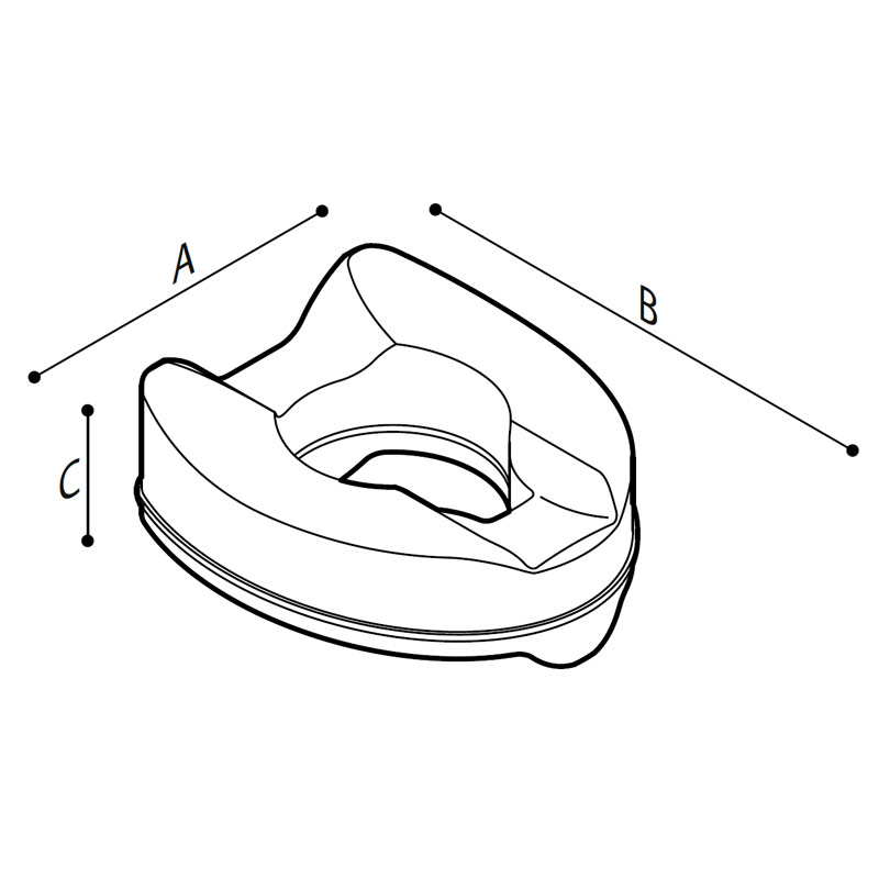 Disegno Sedile rialzato con apertura frontale Disegno Tecnico B41DEO32