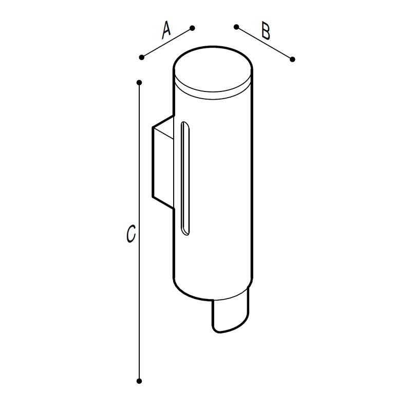 Disegno Distributore per sapone liquido 190ml  Disegno Tecnico F47ACS02