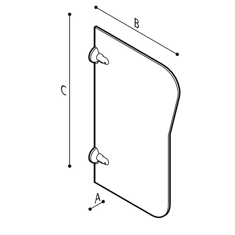 Disegno Parete divisoria per orinatoio Disegno Tecnico B41EEM03
