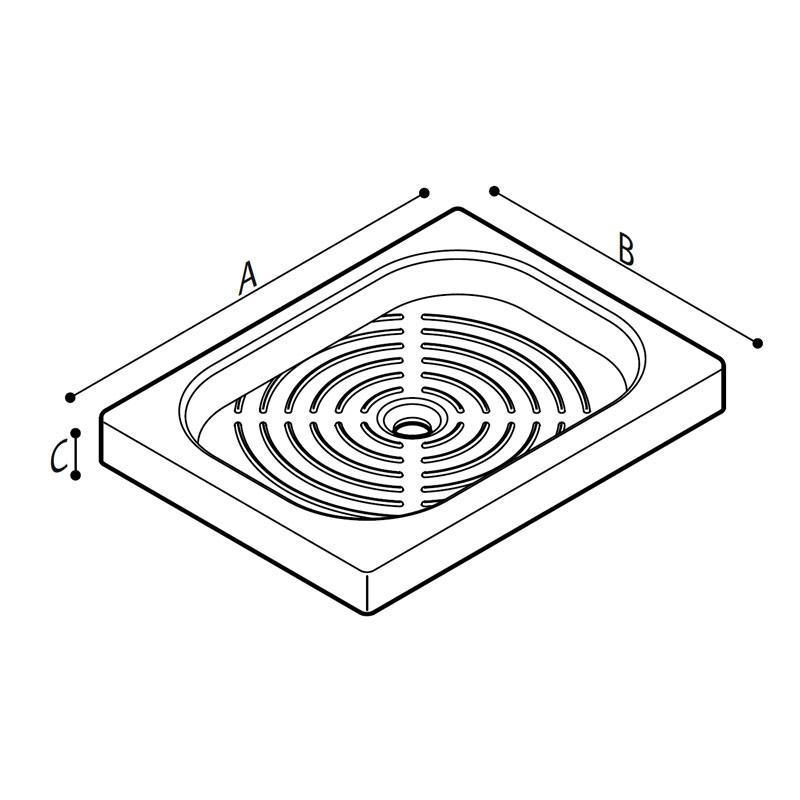 Disegno Piatto doccia Disegno Tecnico B41CPS01