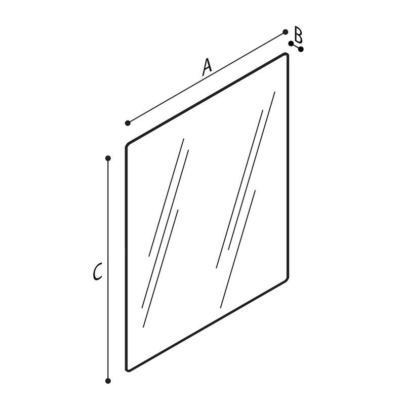 Disegno Specchio, vetro di sicurezza Disegno Tecnico F41JPS35