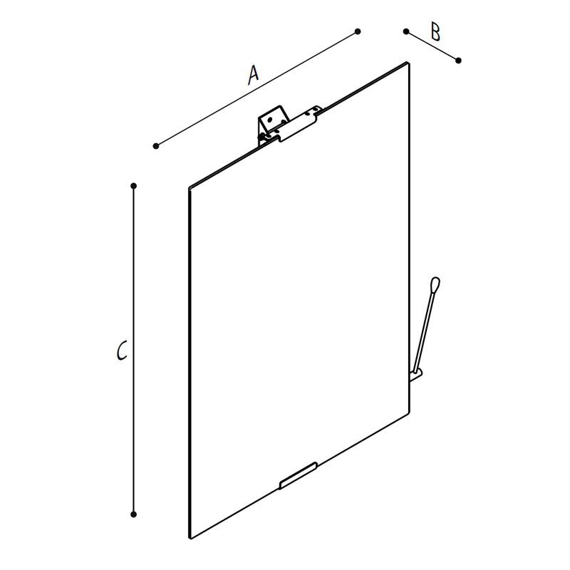 Draw Designer and stylish bathroom mirror Technical Drawing F47JPS02