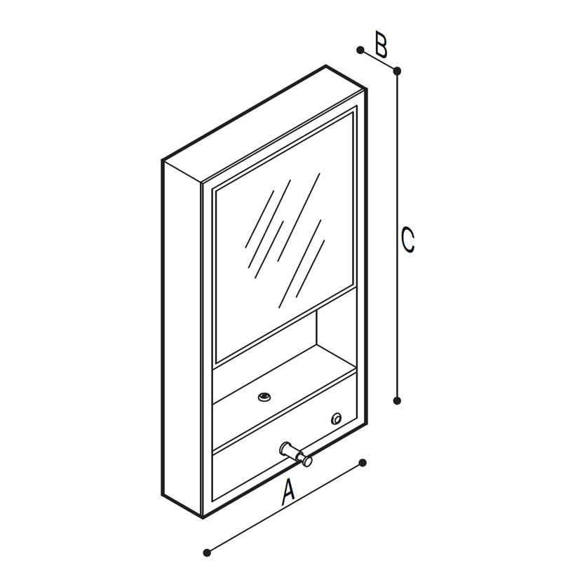 Disegno Struttura in acciaio inox munita accessori Disegno Tecnico F70ATS08