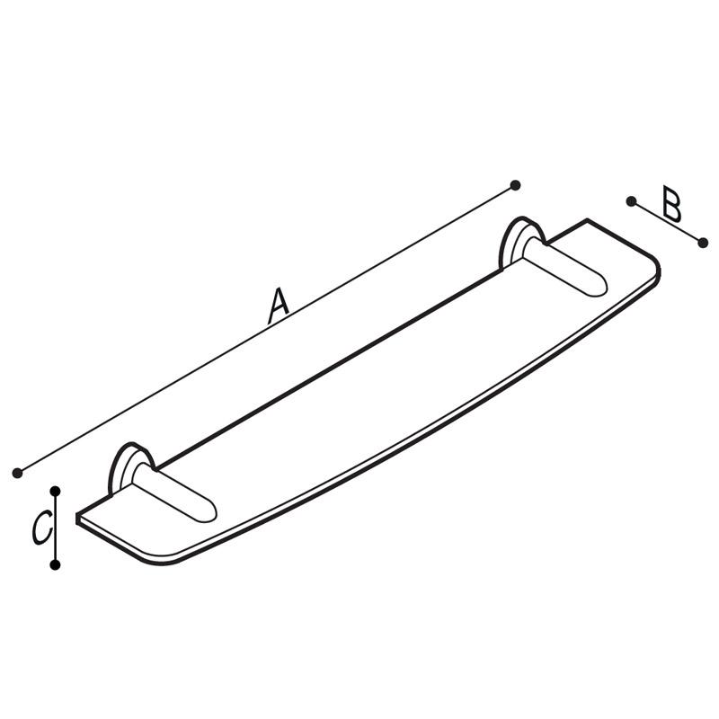 Disegno Mensola con ripiano Disegno Tecnico F17ANN01