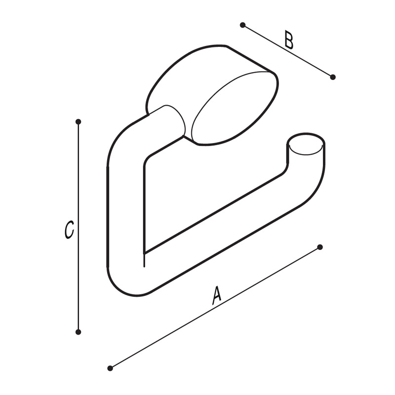Draw Paper roll holder Technical Drawing F17AGN04