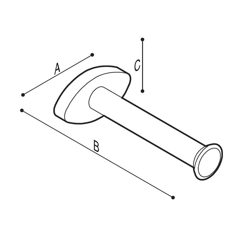 Disegno Porta rotolo di riserva Disegno Tecnico F17AGN02
