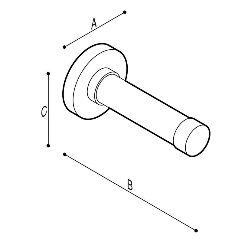 Disegno Impugnatura di sostegno porta rotolo Disegno Tecnico G01JCS04