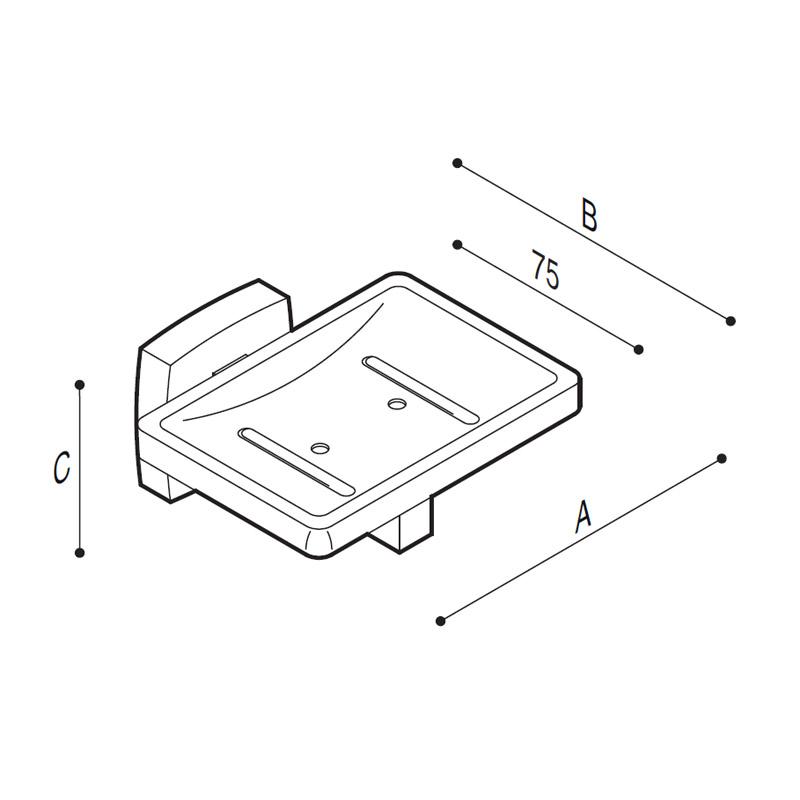 Disegno Porta sapone Disegno Tecnico F70AJS01
