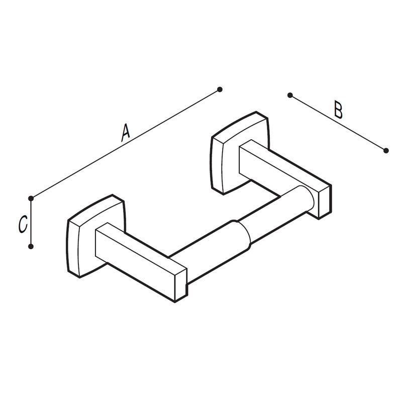 Disegno Porta rotolo Disegno Tecnico F70AGS01
