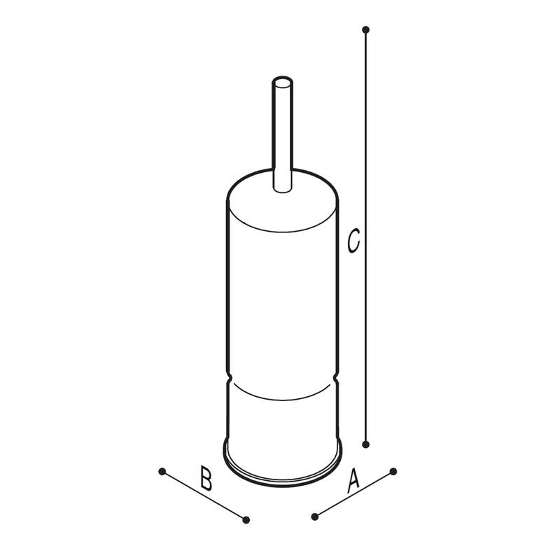 Disegno Porta scopino Disegno Tecnico F70AHN01