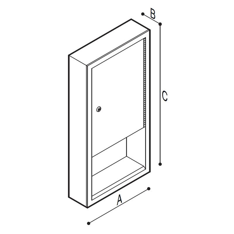 Disegno Dispenser porta salviette Disegno Tecnico F70AAS08