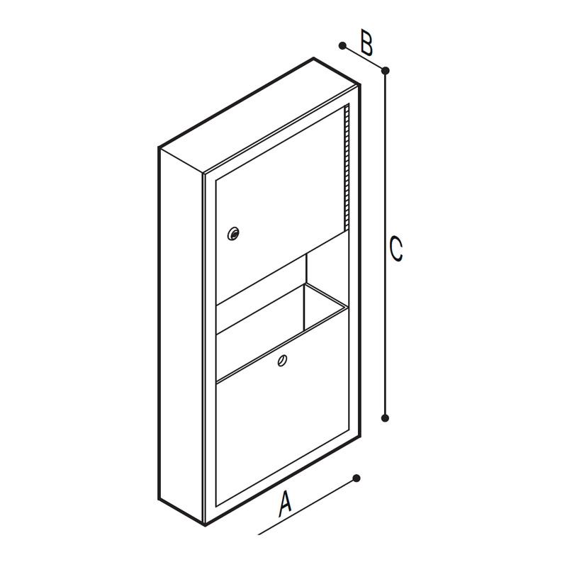 Disegno Dispenser salviette e porta rifiuti Disegno Tecnico F70AAS10