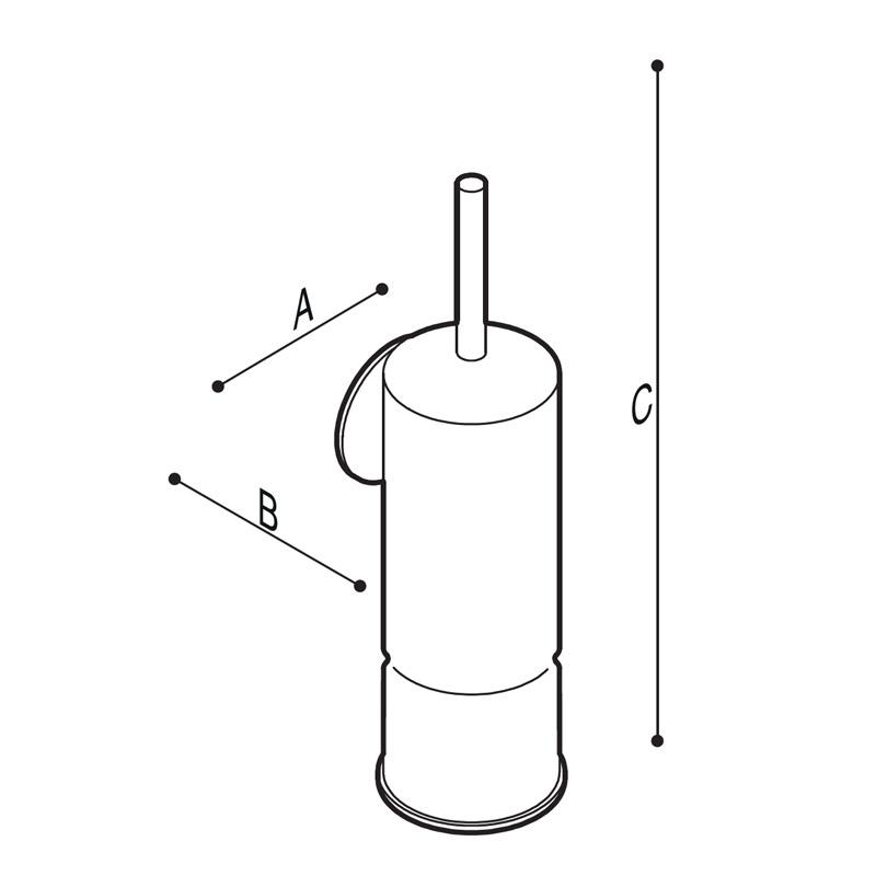 Disegno Porta scopino in ottone cromato Disegno Tecnico G01JQS16