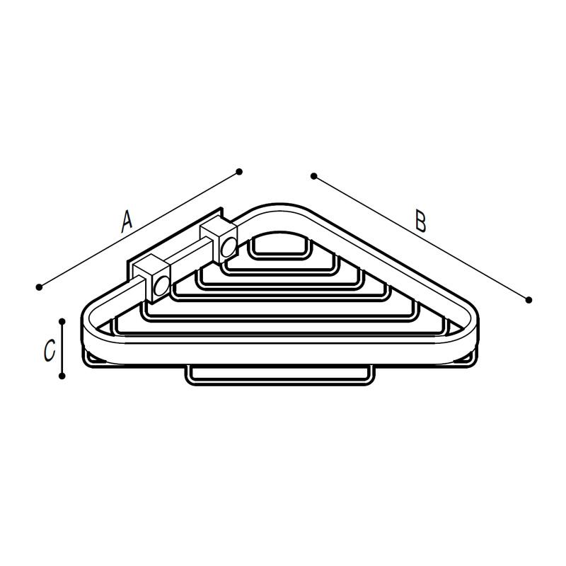 Disegno Griglia porta spugna ad angolo Disegno Tecnico F47AOS02