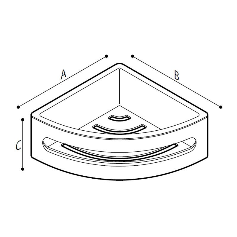 Disegno Porta spugna ad angolo Disegno Tecnico F47ANS11