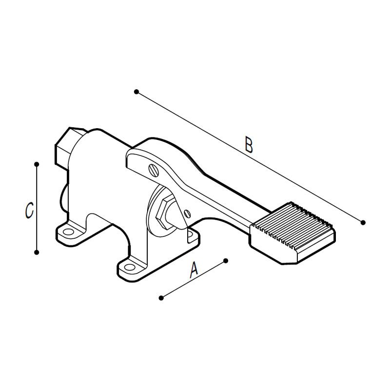 Disegno Rubinetto a pedale esterno Disegno Tecnico H51GFS02
