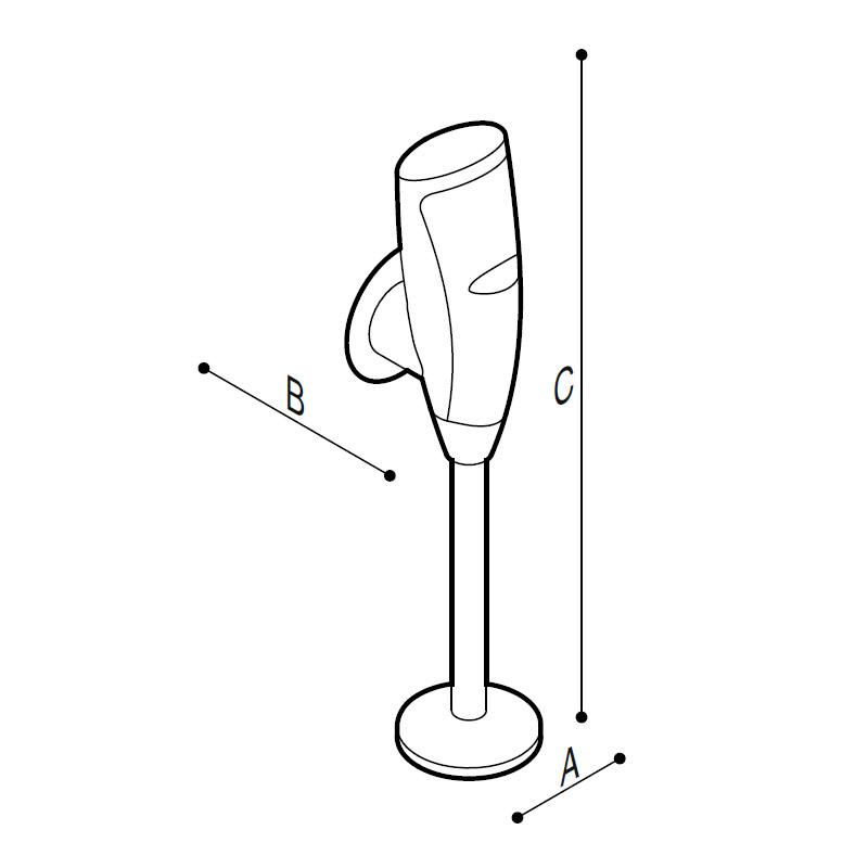 Disegno Rubinetto elettronico per orinatoio touch-free Disegno Tecnico H51GAE06