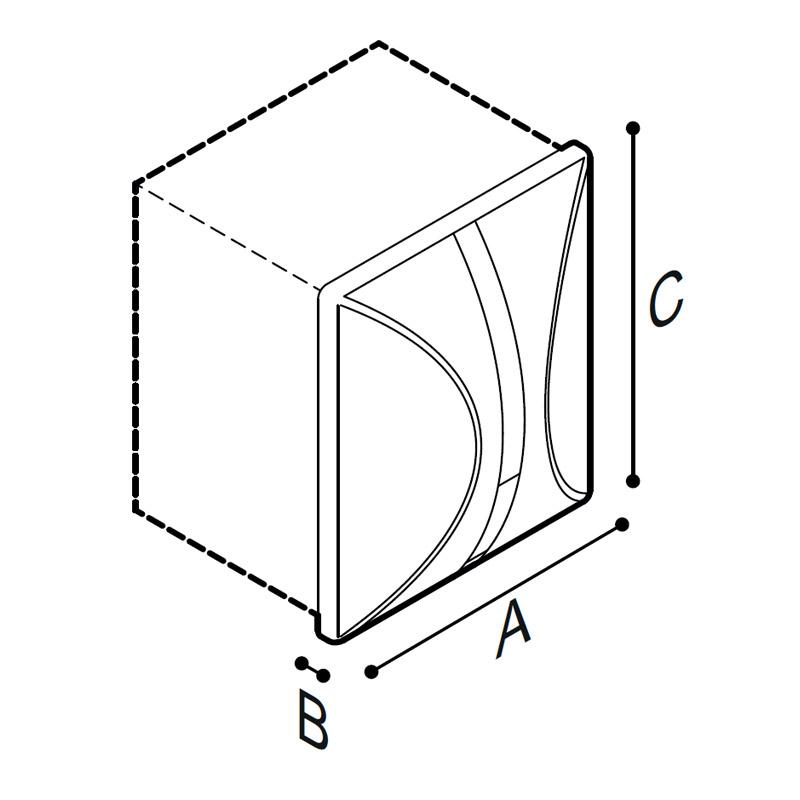 Disegno Rubinetto elettronico ad incasso per orinatoio touch-free  Disegno Tecnico H51GAE08