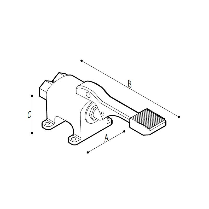 Disegno Miscelatore monopedale a pavimento Disegno Tecnico H51GFS04