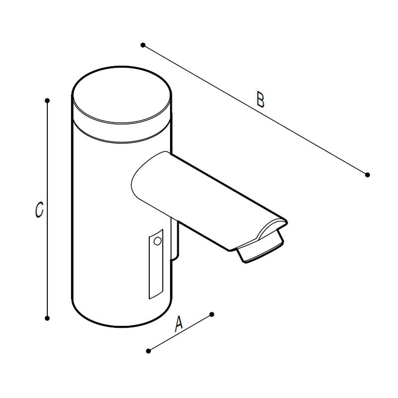 Disegno Miscelatore elettronico touch-free Disegno Tecnico H51GBE03